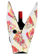 Indian Vintage Paper Handicraft Print Party Event Outdoor Wine Bottle Carrying Case