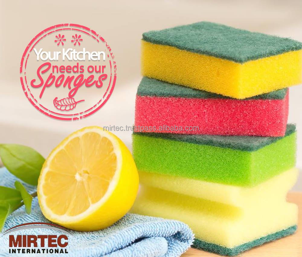 Kitchen Sponge with Grip Scouring Cleaning Sponge 6 Pieces/Pack