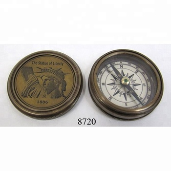 Nautical Brass Antique Compass The Statue of Liberty Compass