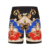 Mens Monster Print Hawaiian Swin Trunks voor Mannelijke Polyester Digital Printing Shorts