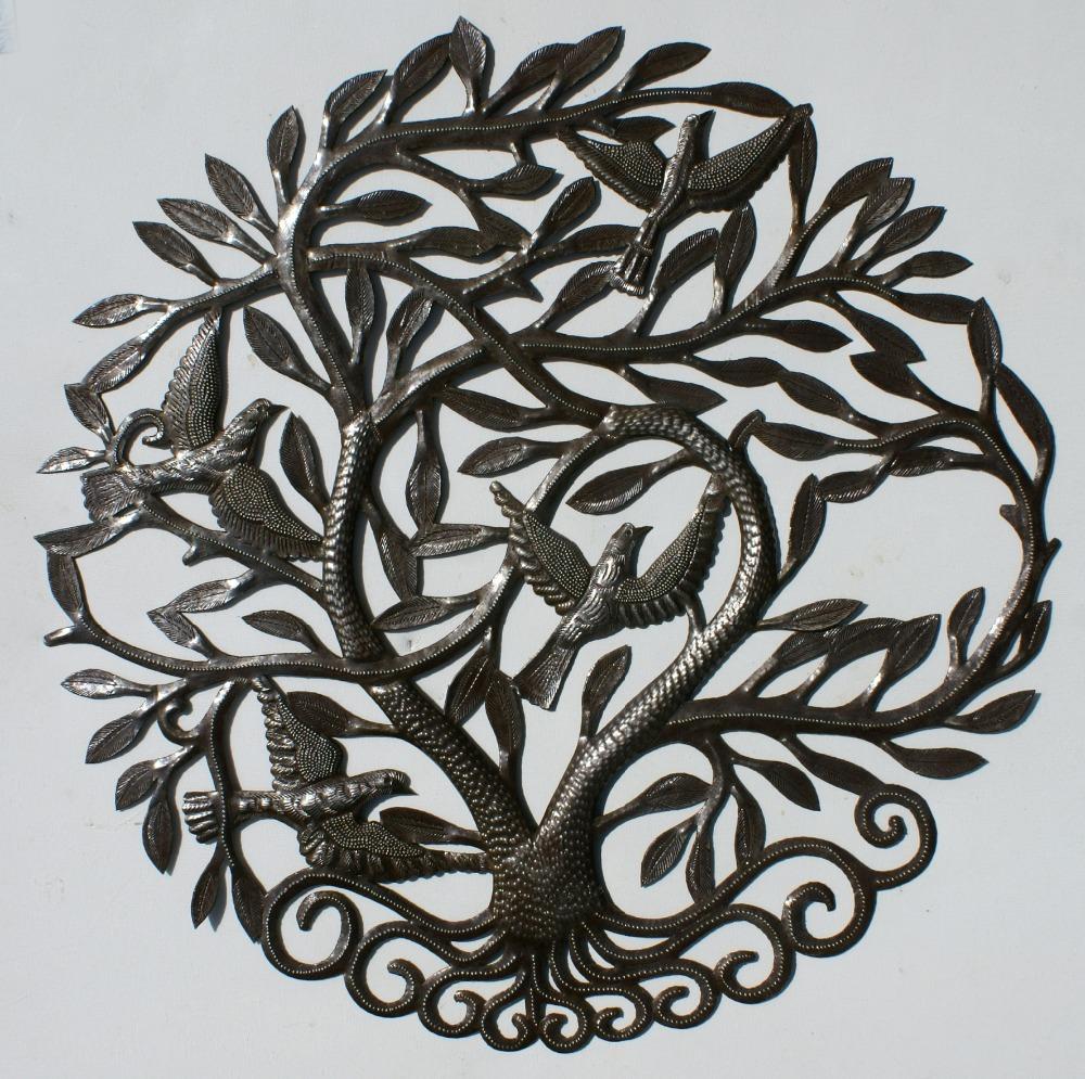 "24/"" Big Tree of Life Metal Art Wall Haitian Crafts Wholesale Wall Art Haitian"