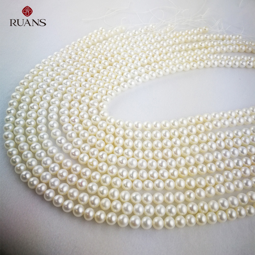 6-6.5 mm AAA1 Freshwater Cultured  Pearl White Strands