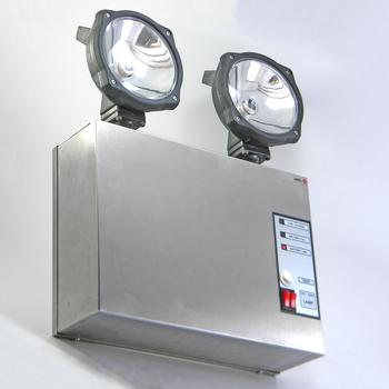 Halogen Emergency Light Versalite Inox 2202
