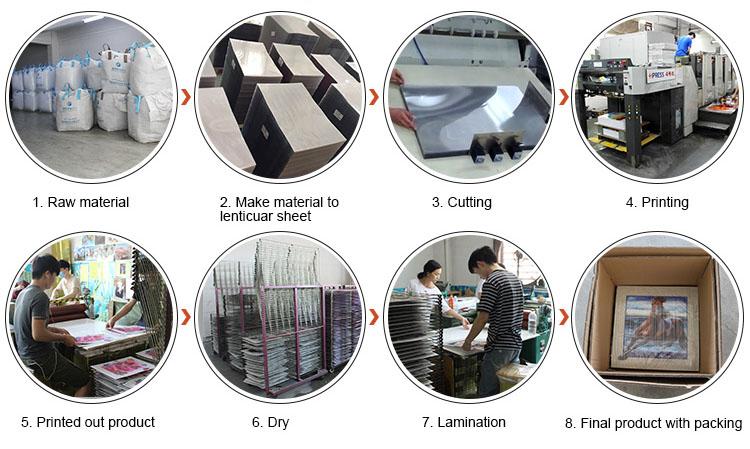 Ventilador popular da mão das vendas 3D lenticular do projeto do KPOP do começo de Coreia para turistas do verão do fornecedor chinês