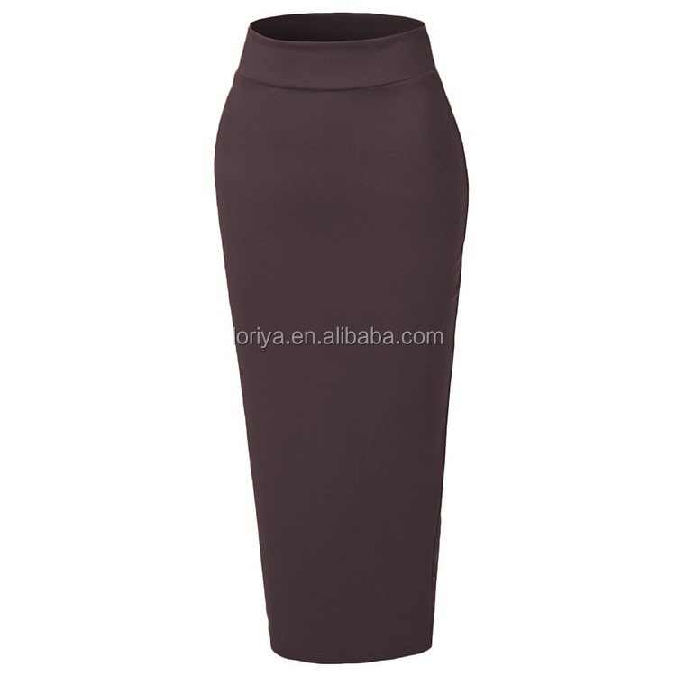 Muslim women wool cotton winter wearing tight half skirts