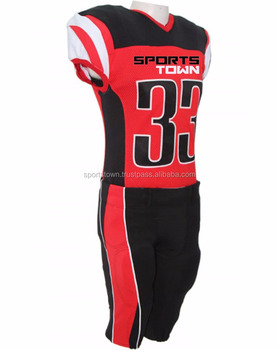 low priced e6458 07efb Custom Made Youth American Football Uniform / 2017 Latest Red Black  Sublimated American Football Club Jerseys - Buy Cheap Youth Football  Jerseys,Cheap ...