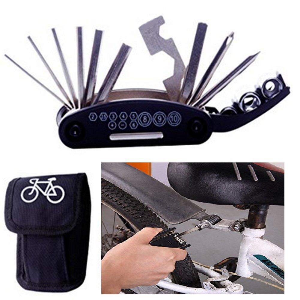LEHONG Bike Multifunction Tools- 16 in 1 Bike Repair Tool Kits Mechanic Tool Kit