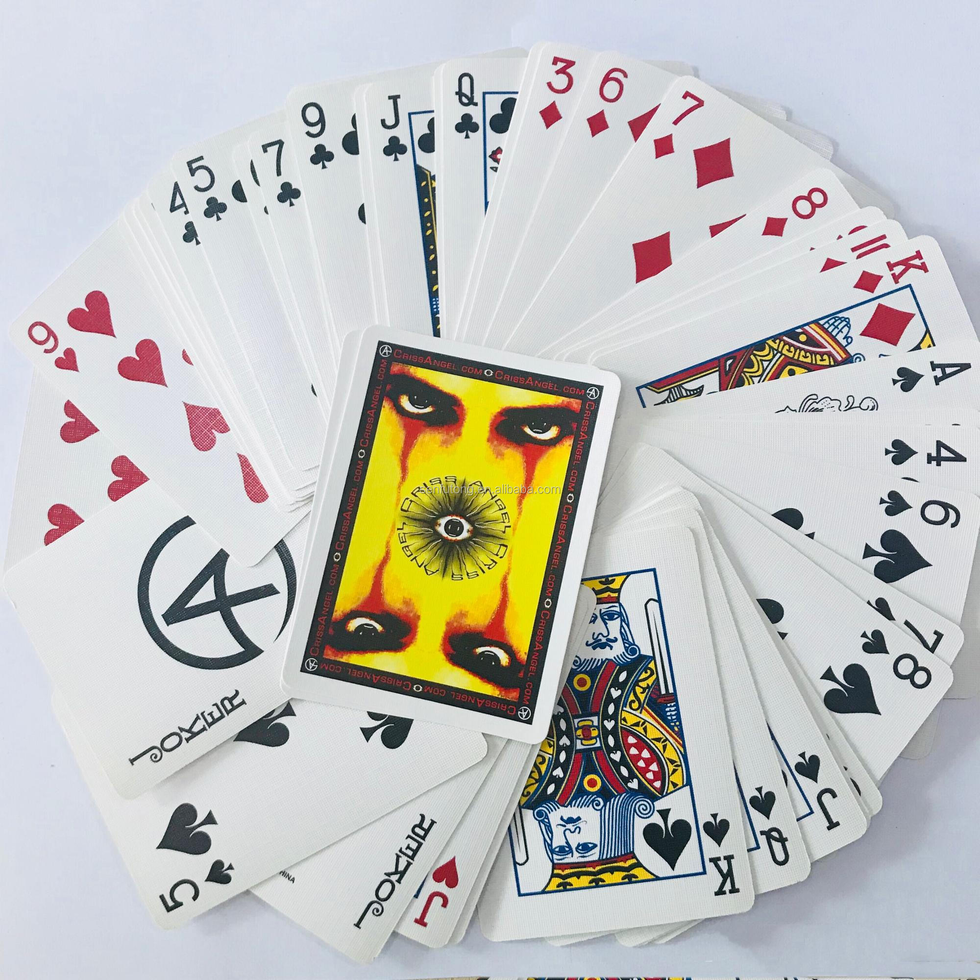 flash card printing services OEM manufacturer paper playing card