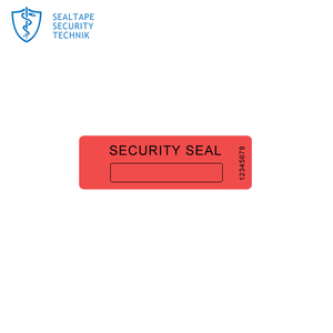 Plastic container seal phone camera red color security stickers printable tamper proof labels