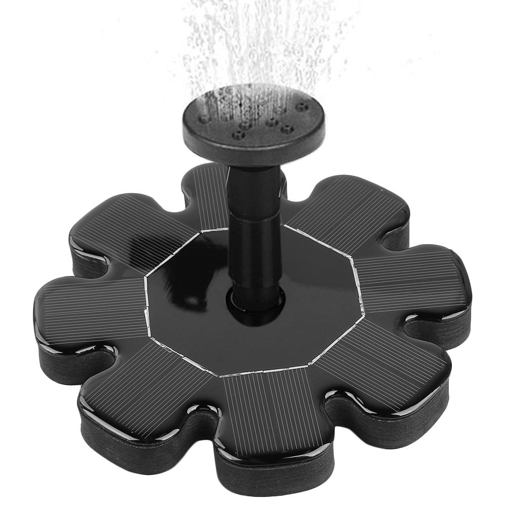 Home Appliance Parts Home Appliances Flower-shaped Solar Powered Fountain Pump For Garden Pool Watering Submersible Floating Panel Water Pump With 4 Nozzles