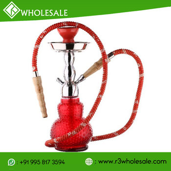 R3 13 Inch Tall Glass Hookah with Metal Plate/AshCatcher and Ceramic Bowl