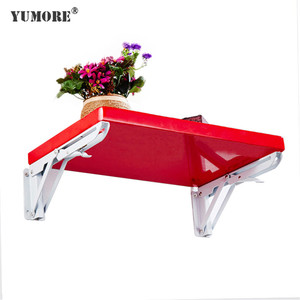 Wholesale pull down fold down shelf table brackets K model folding foldable shelf support