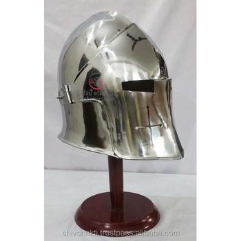 Medieval Visor Barbuta Armour Helmet W/ Helmet Stand Greek Roman Barbute  Helmet - Buy Medieval Helmet,Barbuta Helmet,Barbuta Armour Helmet Product  on