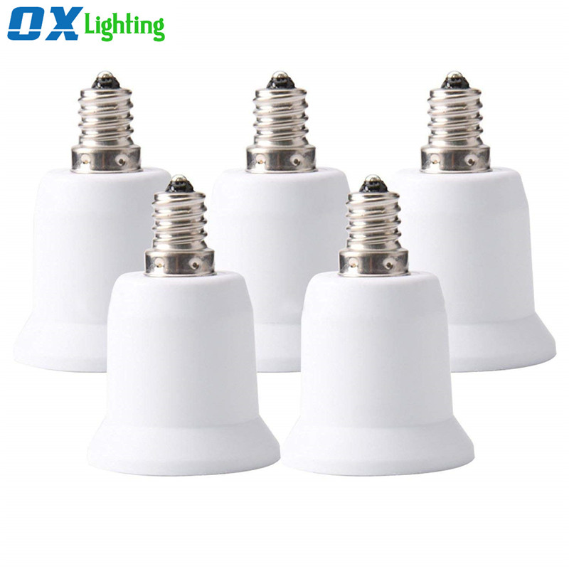 E14 to <strong>E27</strong> E26 Adapter Converter Socket Lamp Holder for LED Bulb Lamp