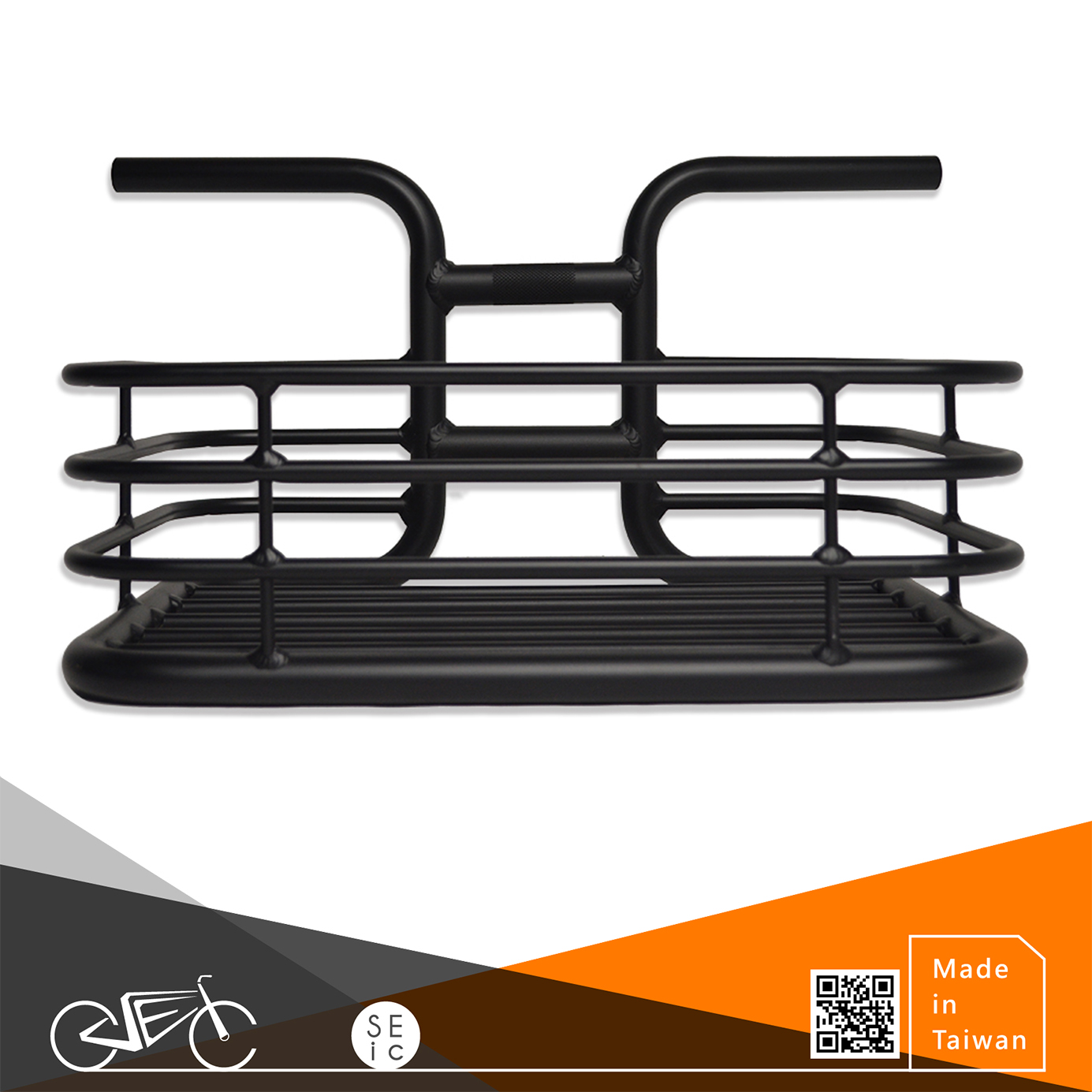 Alloy bicycle handlebar with basket of City bike/Fixed gear/Single speed bike