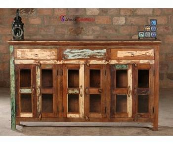 Wholesale Rustic Reclaimed Wood Furniture/wooden Buffet Sideboard