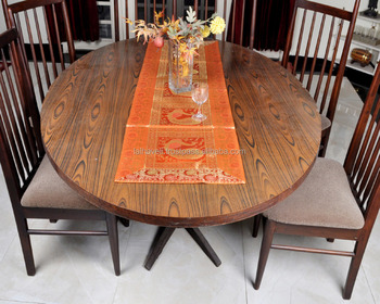 Indian Orange Silk Table Mate Cover Tapestry Party Wedding Table Runner  Table Protector Exclusive