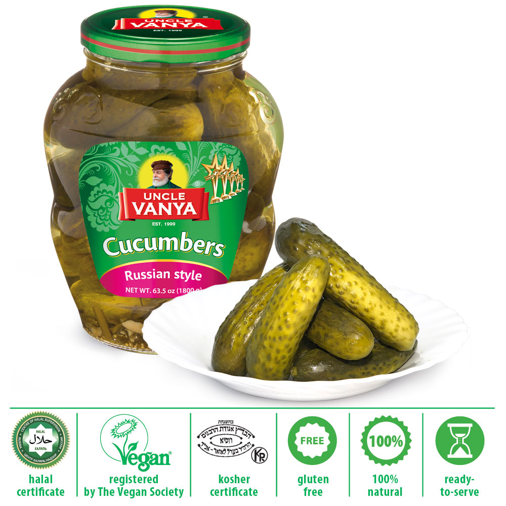 Best Quality Natural Taste Canned Vegetables Marinated Cucumbers 1.8 kg