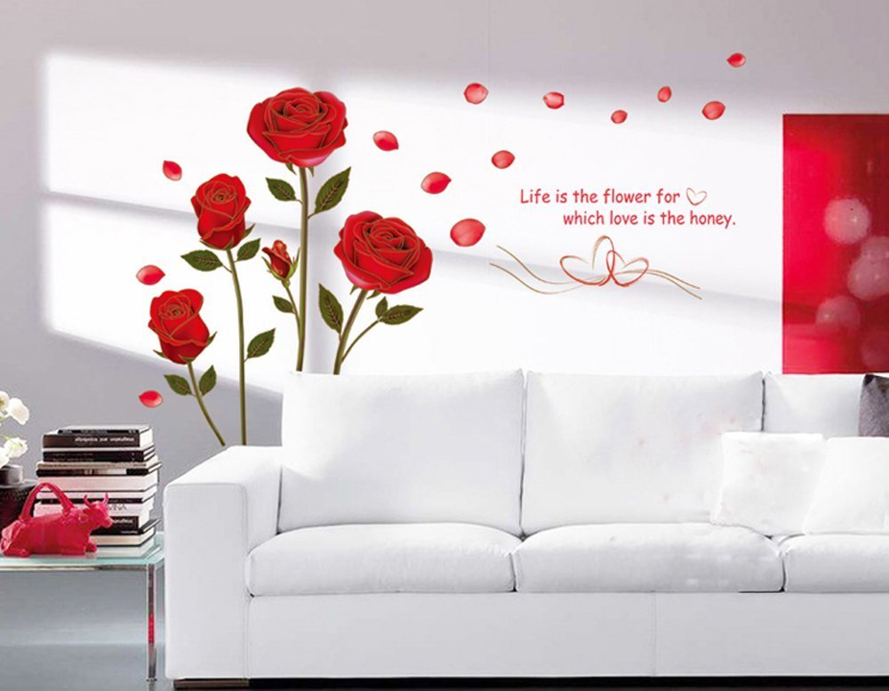 Cheap Black Rose Wall Stickers Find Black Rose Wall Stickers Deals