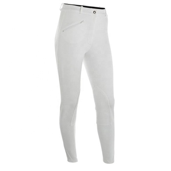WHITE 65% Cotton 28% NYLON 7% SPANDEX SELF KNEE HORSE RIDING EQUESTRIAN APPAREL
