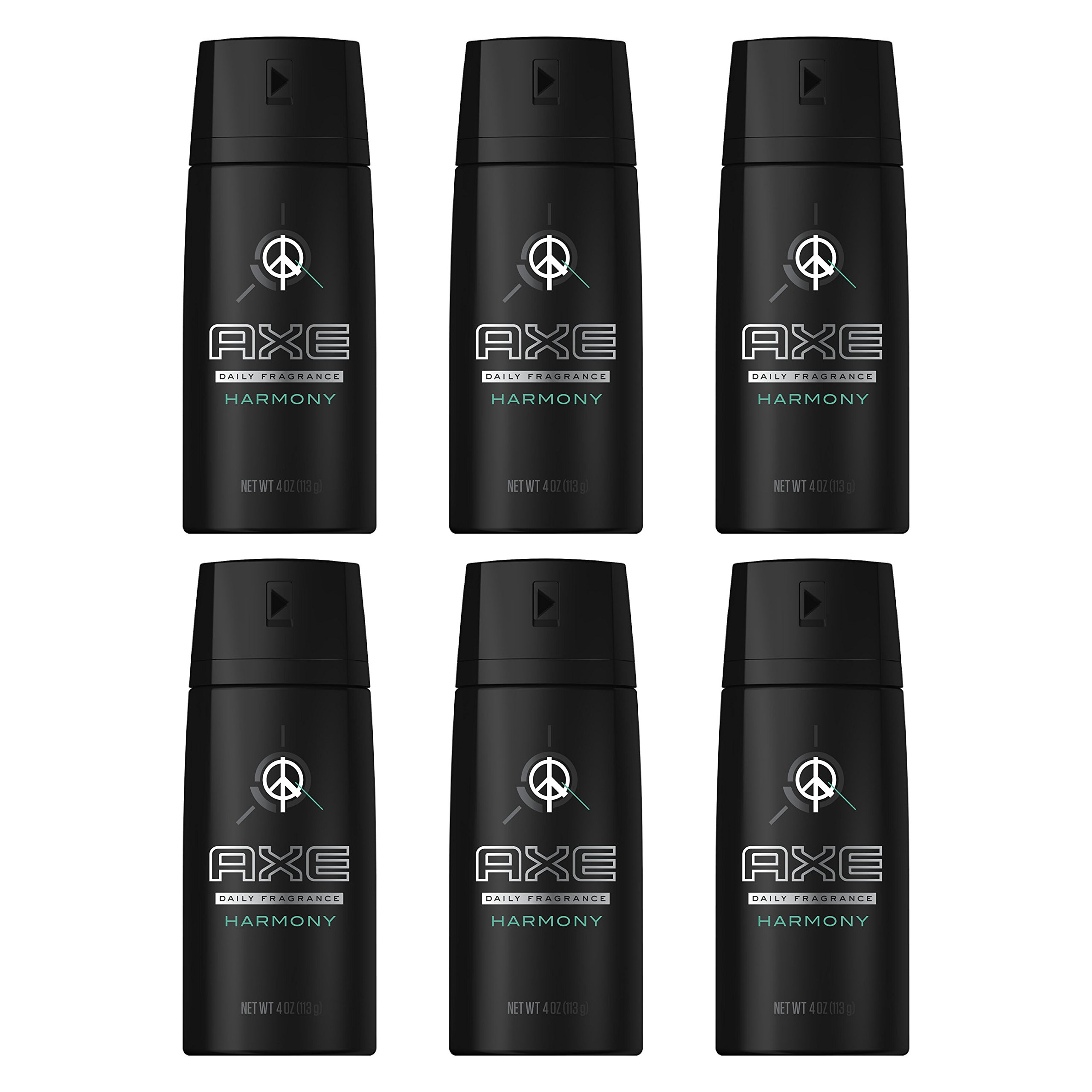 AXE Body Spray for Men, Harmony, 4 Ounce (Pack of 6)