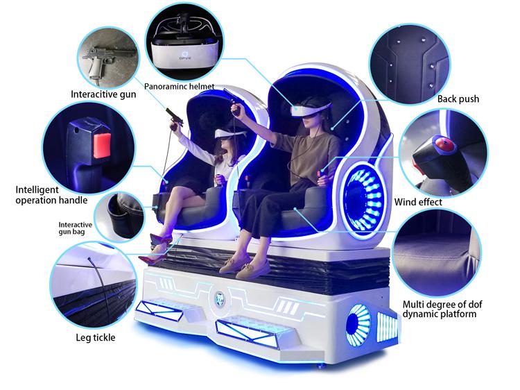 الحصري نظام الواقع الافتراضي 9D البيض فر السينما مقعد متحرك VR Pod لمركز لعبة