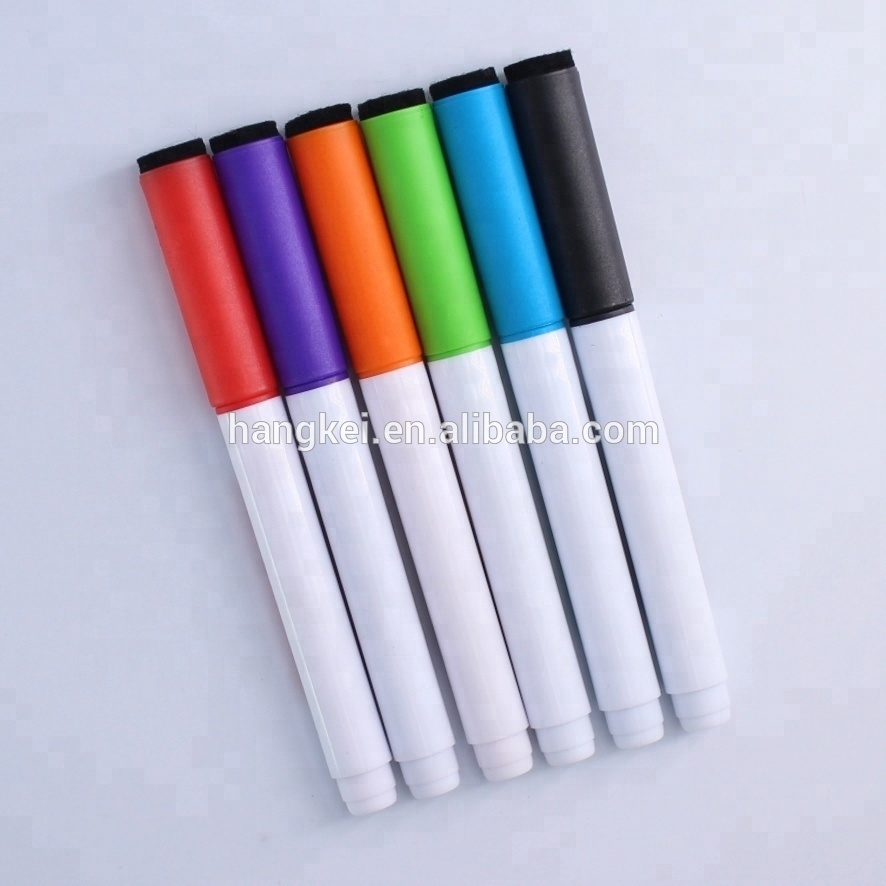 Back to school magnetic erasable white board marker pen
