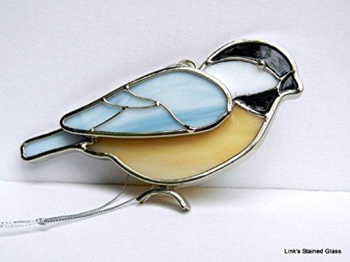 Stained Glass Chickadee Sun Catcher