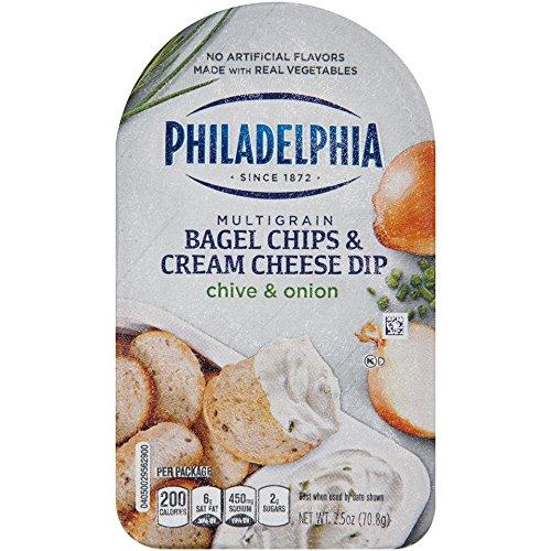 Philadelphia Multigrain Bagel Chips & Chive & Onion Cream Cheese Dip, 2.5 oz