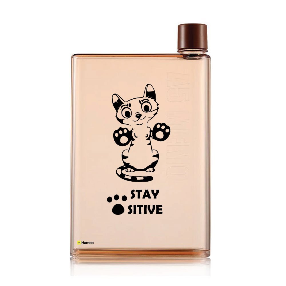 c88db5dacf Get Quotations · Hamee Printed A5 Size Memo Bottle / Notebook Style Flat  And Ultra Slim Portable Bottle Transparent