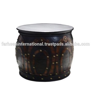 Metal Round Drum Coffee Table
