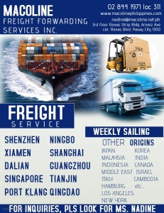 LOGISTICS, TRANSPORTATION, DOOR TO DOOR DELIVERY FRO CHINA TO MANILA, PHILIPPINES,