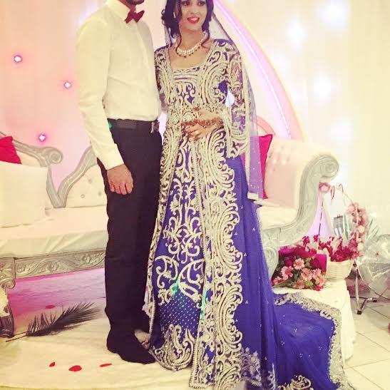 Crystals Work Wedding Designer Moroccan Bridal Kaftan 2017 Beaded Perple Color