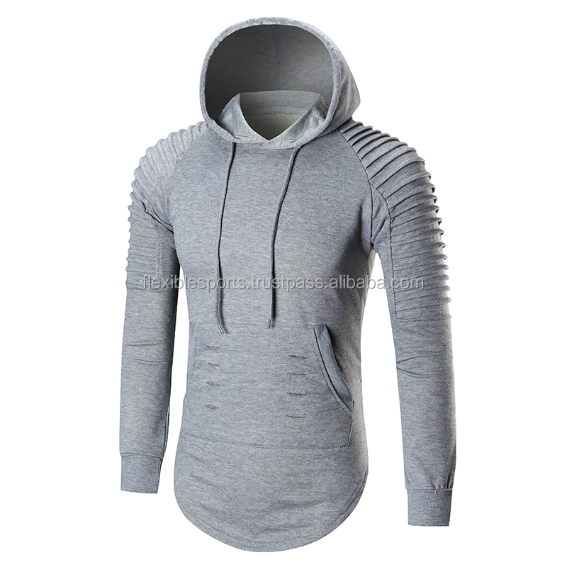 Custom Wholesale Stylish Men Pullover Hoodies