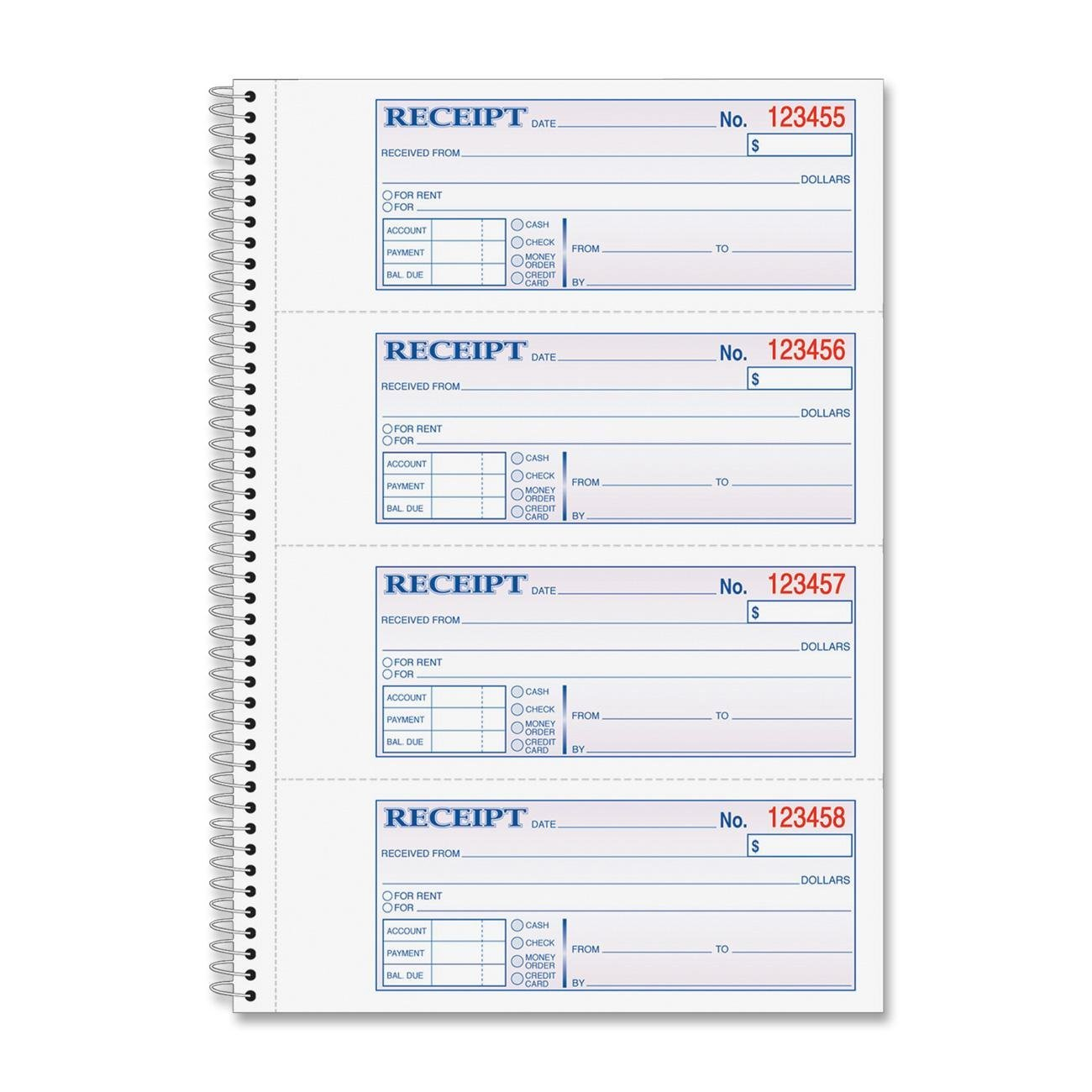 Adams Business Forms Products - Money/Rent Receipt Bk, Spiral, 2-Part, 7-5/8quot;x11quot;, 200/BK - Sold as 1 EA - Money/rent receipt book lets you record rent payments and other types of payments. Each form indicates a place to record date, payers name, purpose of payment, payment amount, time