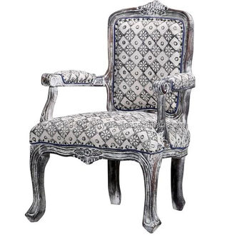 Living Room Chair Maharaja Style Indian Royal Upholstered Chair ...