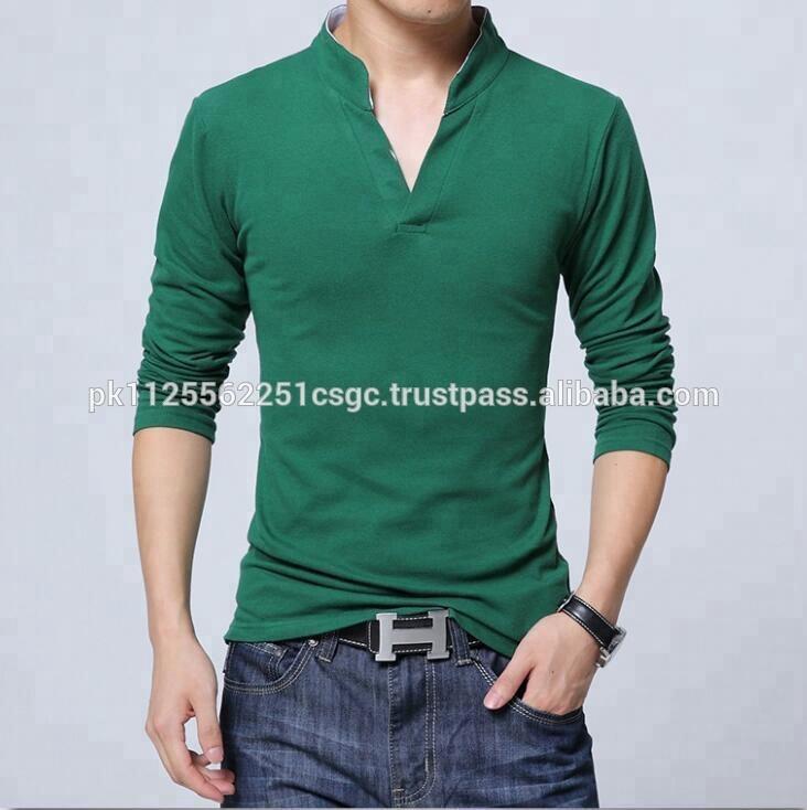 3bcb4b710c9f Wholesale Men's 100% Cotton Stylish Ban Collar Full Sleeve T Shirt ...
