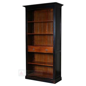 Indonesia Furniture - French Furniture Open Bookcase 4 Shelves 2 Drawers