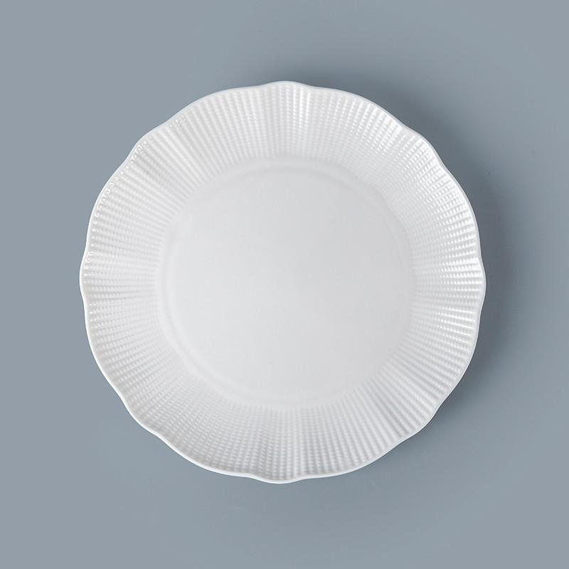 product-Two Eight-Bone China Porcelain Hotel Restaurant Crockery Tableware Platter, Bone China Porce