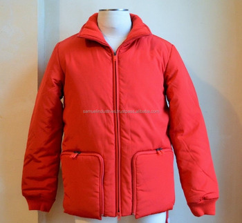 86a4b1c9f21ac RED PUFFER BOMBER JACKET Hot Sale Custom Design Plain Padded Bomber Jacket  Red With Cotton