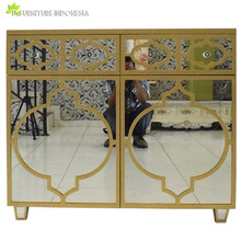 indonesia furniture supplier mirrored nightstand customized by request
