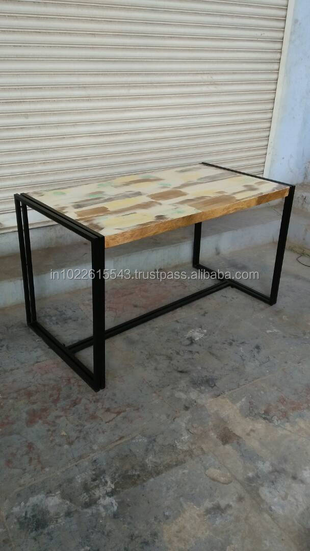 Industrial Reclaimed Wood Cafe Table Modern Industrial Restaurant Cafe Table Buy Solid Wood Cafe Table Distressed Wood Tables Wooden Restaurant Tables Product On Alibaba Com