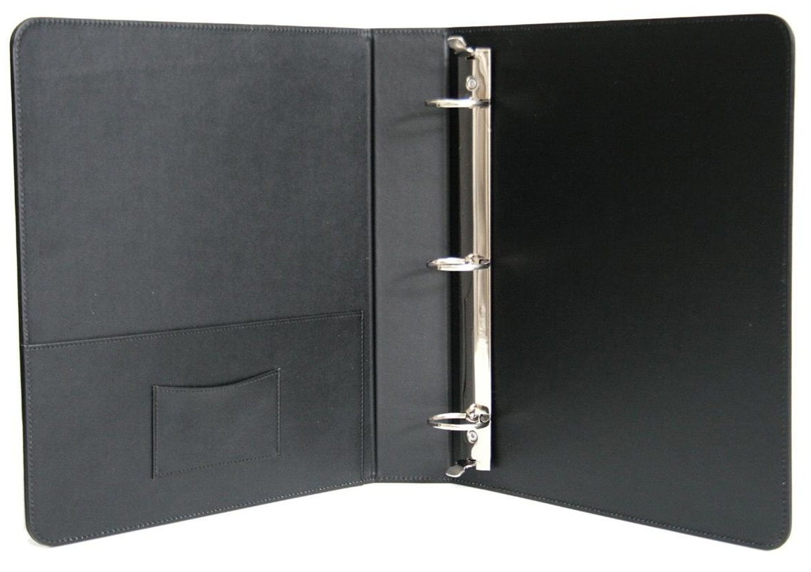 Ring Binder Leather Simple Ring Binder