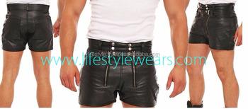 Spiksplinternieuw Lederen Shorts Sexy Gay Leer Dragen Heren Gay Zwart Lederen Zware JI-38