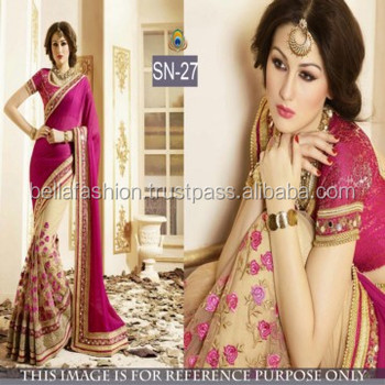 d55b03502b Latest Modern Fashionable Bollywood Designer Blouse Wedding and Party Wear Bridal  Sarees
