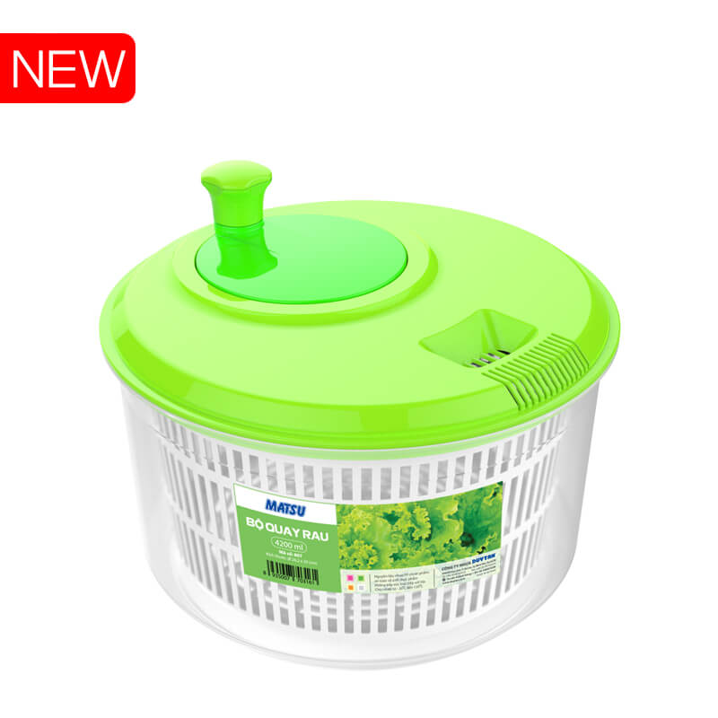 Food Grade Easy Use Plastic salad round basket basin spinner 275