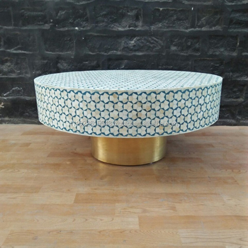 Charmant Round Bone Inlay Coffee Table,Bone Inlay Furniture