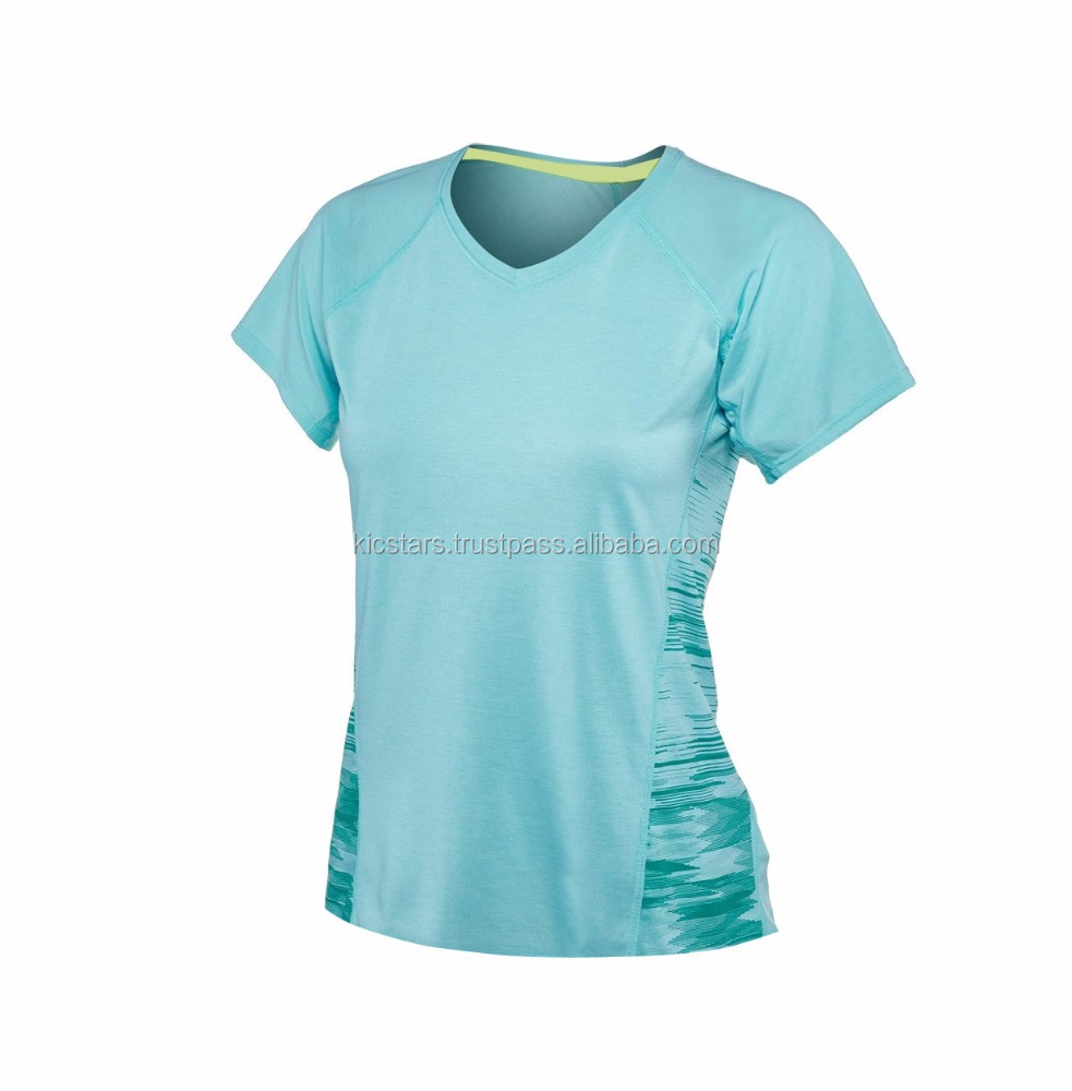 Womens Sport Tee Shirt Designs Knitted Sublimation Sport New