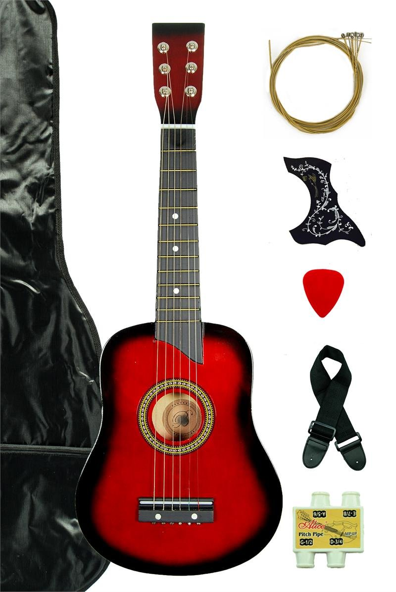 cf609088f1bd3 Get Quotations · Red Acoustic Toy Guitar for Kids with Carrying Bag and  Accessories   DirectlyCheap(TM)