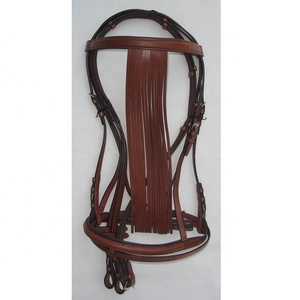 Leather Single Spanish Bridle with Flash Cavesson